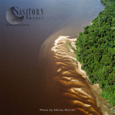 Sand Bars On The Essequibo River, Guyana, South America
