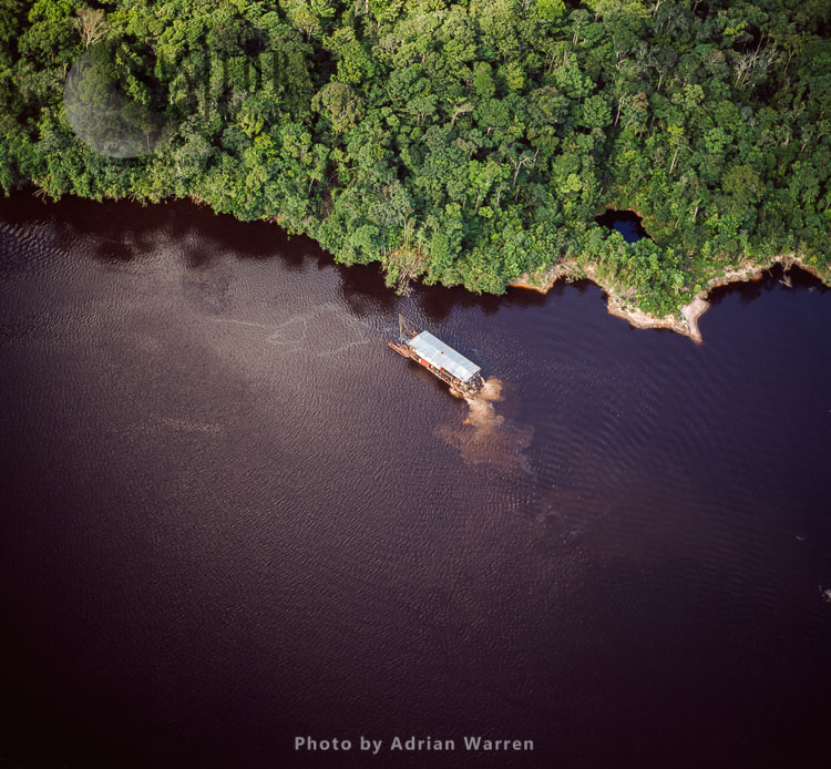 Dredger On The River Mazaruni, Just South Of Peaima Falls, Upper Mazaruni District, Guyana