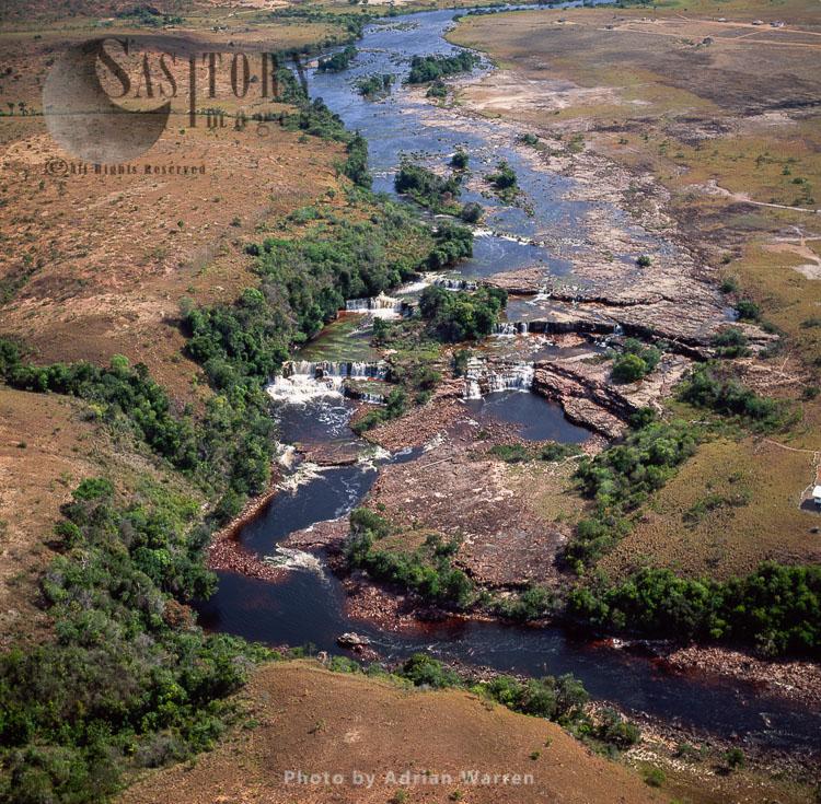 Orinduik Falls, Ordinduik, A Diamond-mining Community, Guyana, South America