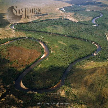 Bend In Ireng River West Of Karasabai, Rupununi District, Guyana