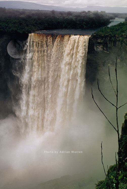 Kaieteur Falls, Potaro River, Kaieteur National Park, Amazon Rainforest, Potaro-Siparuni Region Of Guyana