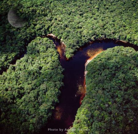 Confluence Of Paikwa River With Kako River, Upper Mazaruni District, Guyana