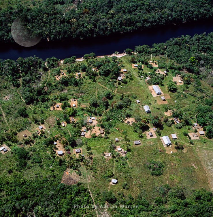 Amerindian Settlement, Kako River, Upper Mazaruni District, Guyana