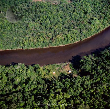 Mining Camp On The Bank Of Mazaruni River, Just West Of Kokadai, Guyana