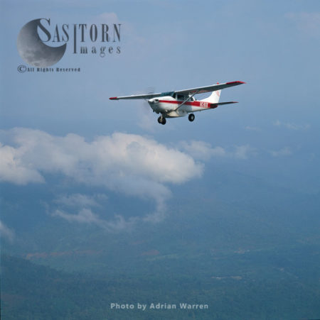 Light Aircraft Over Ecuador Rainforest - Part Of The Amazon Basin, Cononaco Area, South America