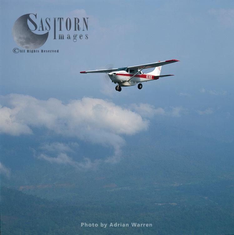 Light Aircraft Over Ecuador Rainforest – Part Of The Amazon Basin, Cononaco Area, South America