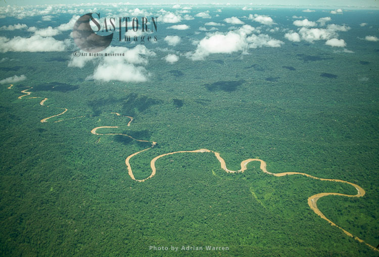 Ecuador Rainforest – Showing Meandering River And Ox-bow Lakes, Part Of The Amazon Basin, Cononaco Area.