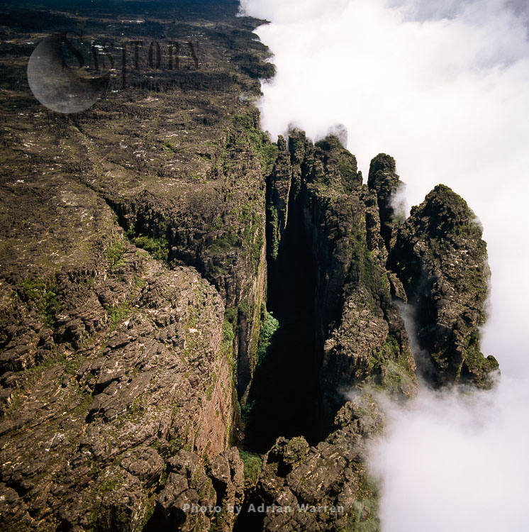 Mount Kukenaam, the Great Crack, Tepuis, Canaima National Park, Venezuela