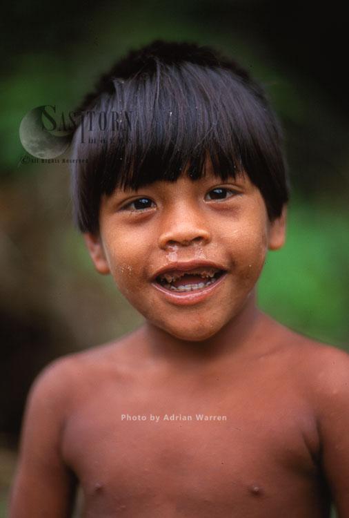 Waorani Indian Boy, Rio Cononaco, Ecuador, 1993