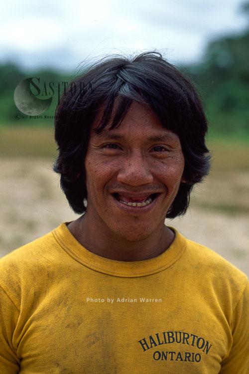 Waorani Indians, Adult Male, Rio Cononaco, Ecuador, 1993