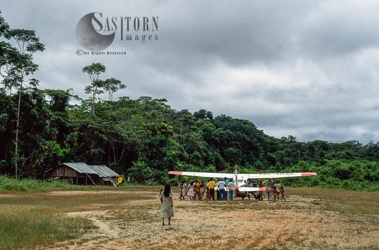 Waorani Indians, Cononaco Airstrip, Ecuador, 1993