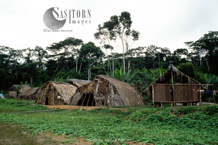 Waorani Indians, settlement near Cononaco airstrip, Ecuador, 1993