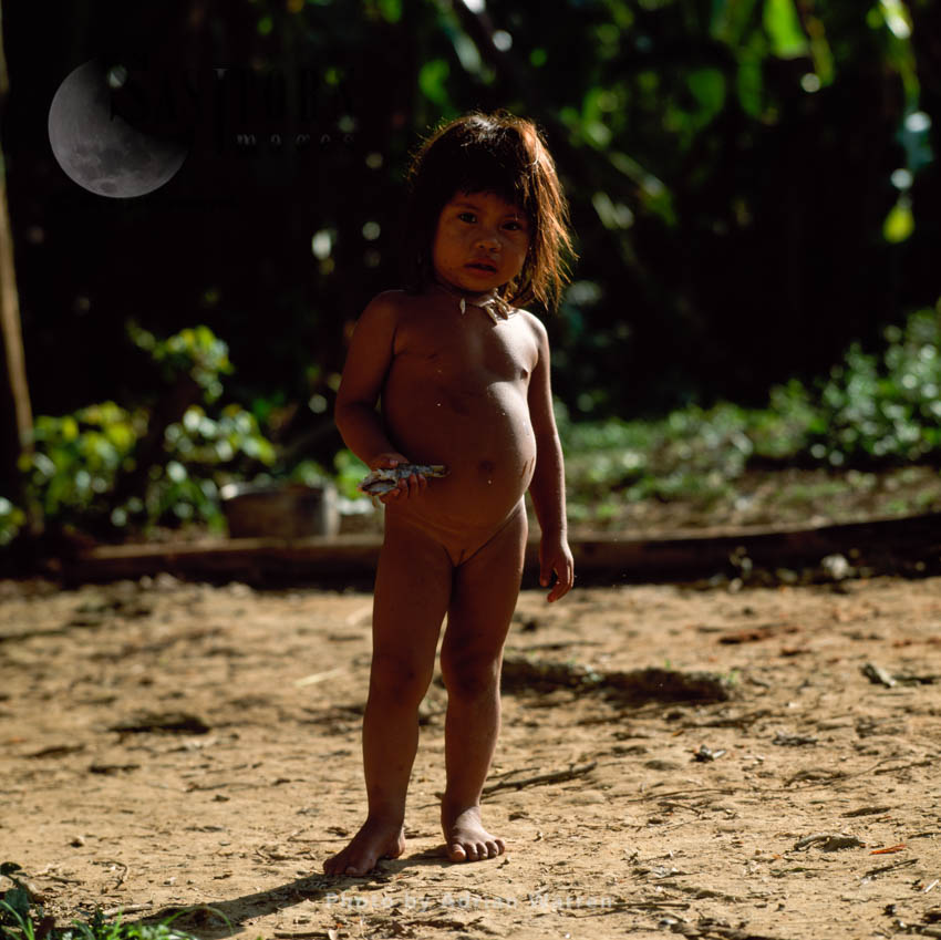 Waorani Indian Girl: Rio Cononaco, Ecuador, 2002
