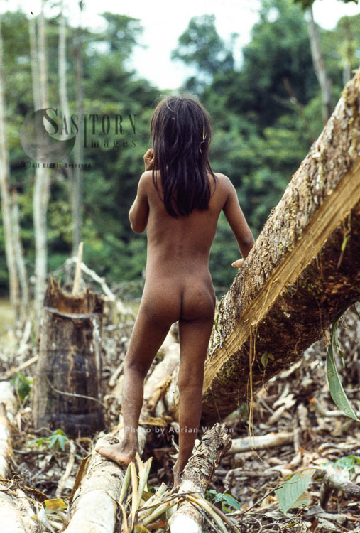 Waorani Indian Girl: Rio Cononaco, Ecuador, 1983