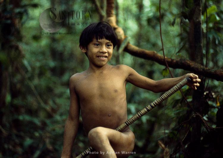 Waorani Indians, Rio Cononaco, Ecuador, 1983
