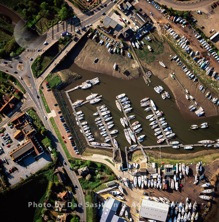 Maidenhall Marina, Ipswich, on the estuary of the River Orwell, Norfolk