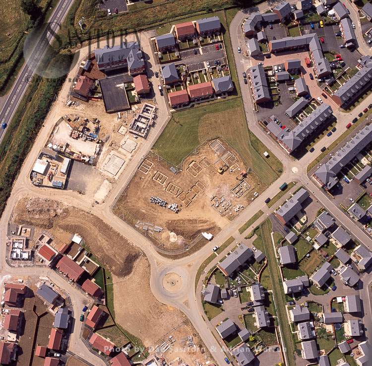 Construction Of  A New Housing Development, Grantham, Lincolnshire