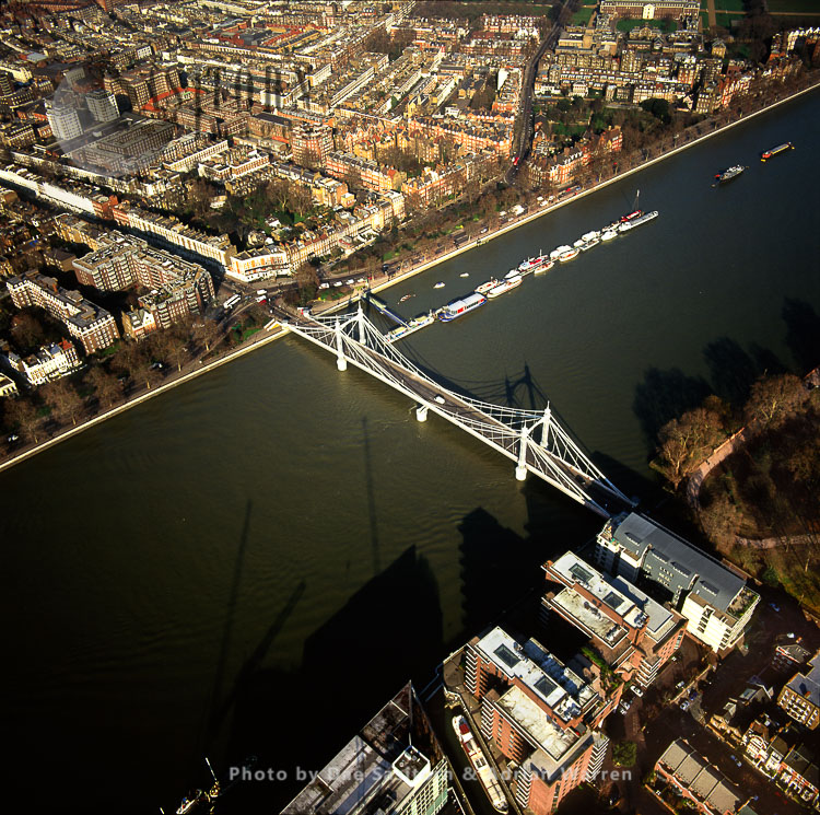 Albert Bridge And The River Thames, London, England