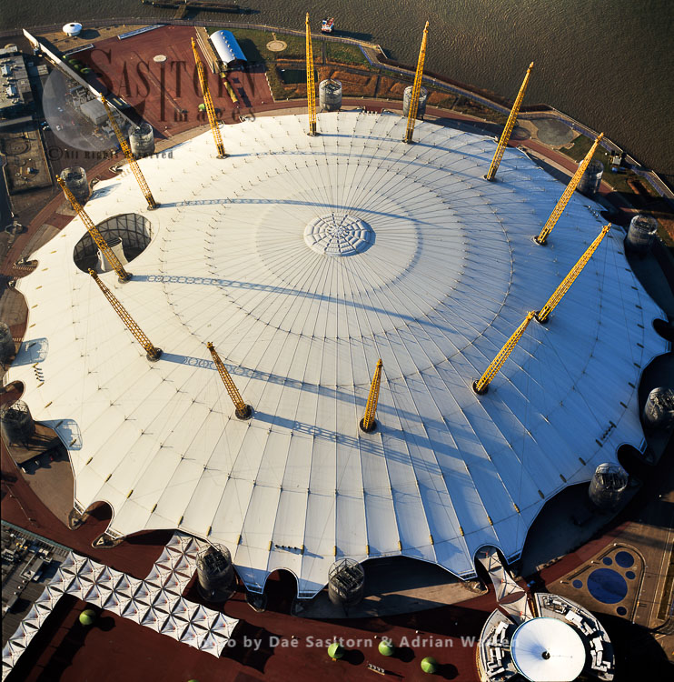 Former The Millennium Dome, Used To House The Millennium Experience Now A Key Exterior Feature Of The O2, Greenwich, London