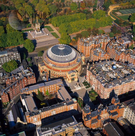 Royal Albert Hall, A Concert Hall On The Northern Edge Of South Kensington, Albert Memorial In Background, London