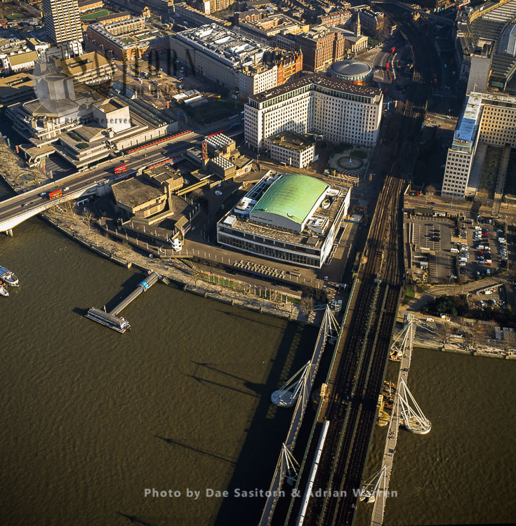 Royal Festival Hall And Hungerford Bridge, Southbank Centre, London