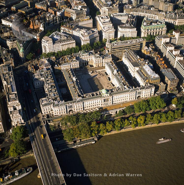 Somerset House And Waterloo Bridge, London