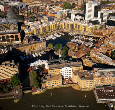 St Katharine Docks Is A Former Dock And Now A Mixed-used District In Central London