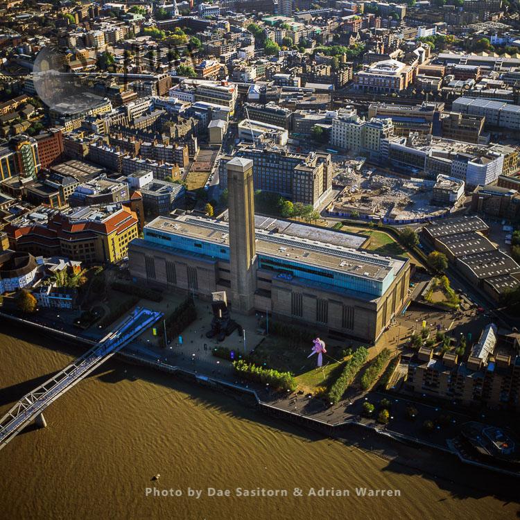 Tate Modern And Millennium Bridge, London