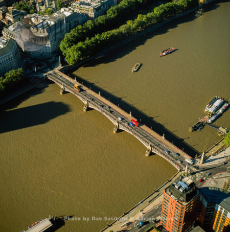 Lambeth Bridge, A Road Traffic And Footbridge Crossing The River Thames, London