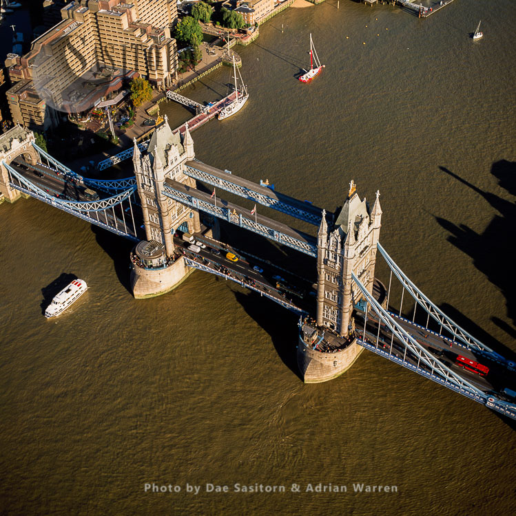 Tower Bridge, The Most Famouse London Bridge Over The River Thames, A Combined Bascule And Suspension, London