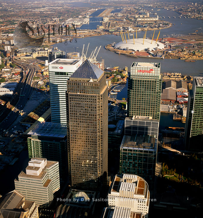 One Canada Square And Other Highrise Buildings Of Canary Wharf, London