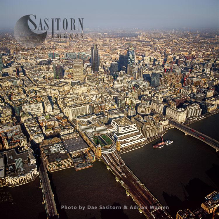 City Of London With London Bridge And Southwark Bridge, London