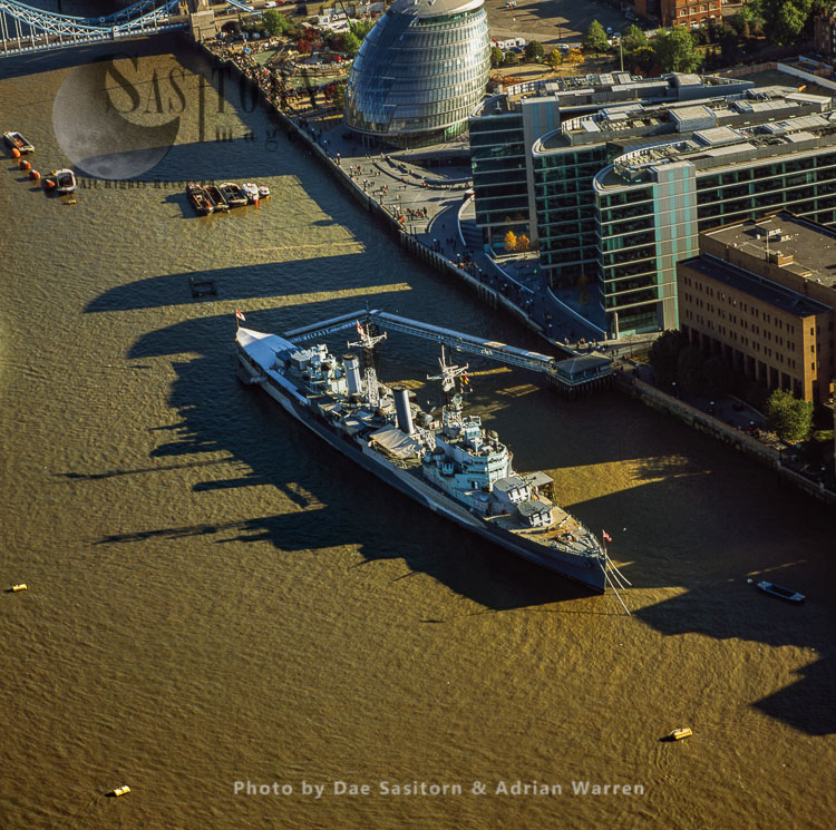HMS Belfast And The River Thames, London