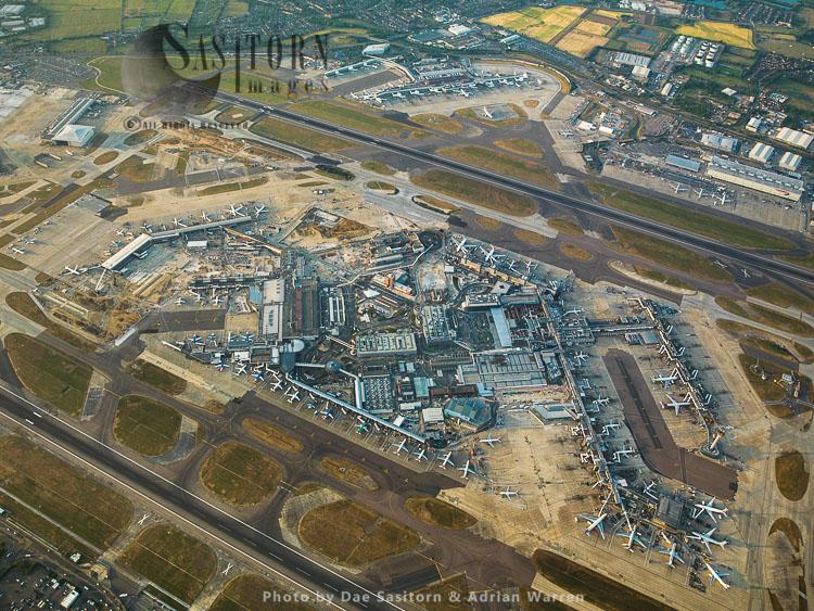 Heathrown International Airport, Terminal1, 2 And 3 And Cargo Terminal
