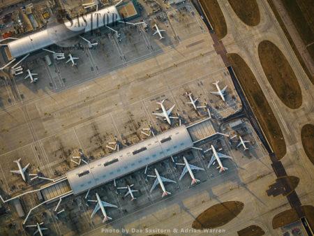 Terminal 5, Satellite Terminal Building 5B, London Heathrow International Airport, Hayes, Middlesex