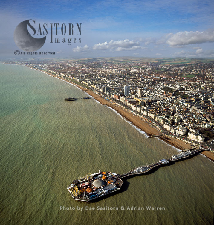 Brighton Palace Pier and Brighton town centre, East Sussex