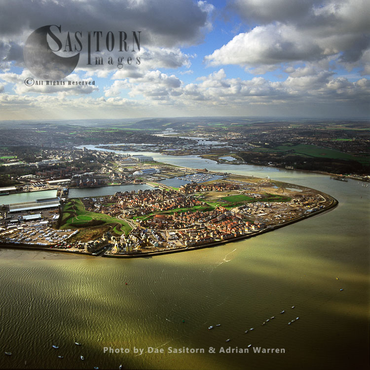 St Mary's Island And The Medway Estuary, Near Chatham, Kent