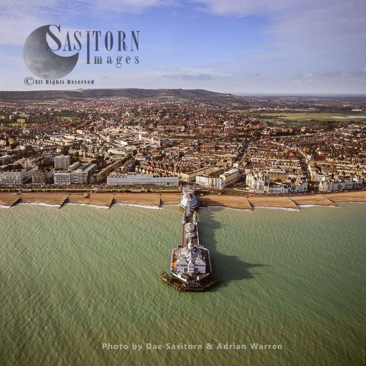 Eastbourne Pier And Its Town, East Sussex