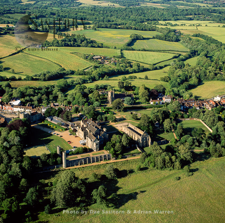 Battle Abbey, A Partially Ruined Benedictine Abbey In Battle, East Sussex