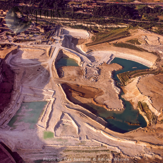 Clay And Chalk Quarry, Legacy Of The Cement Industry In Swanscombe, Kent