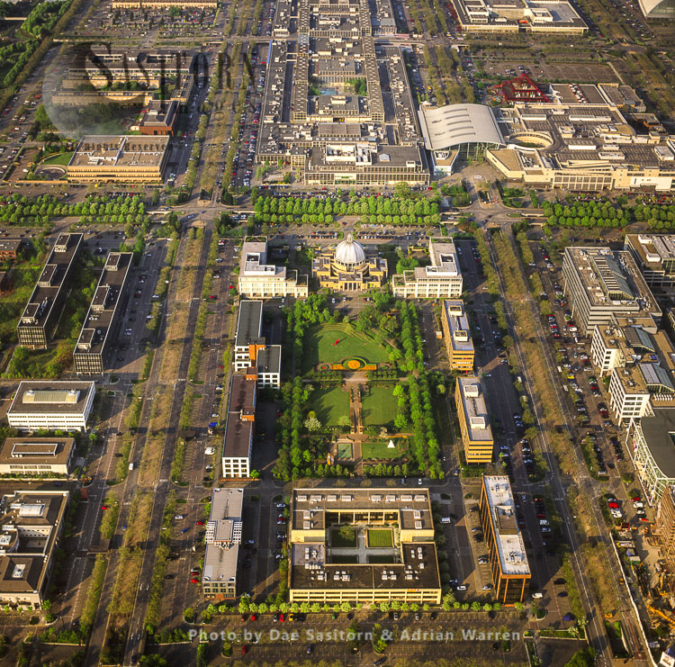Milton Keynes, Shows Its Grid System, And The Guildhall, Buckinghamshire