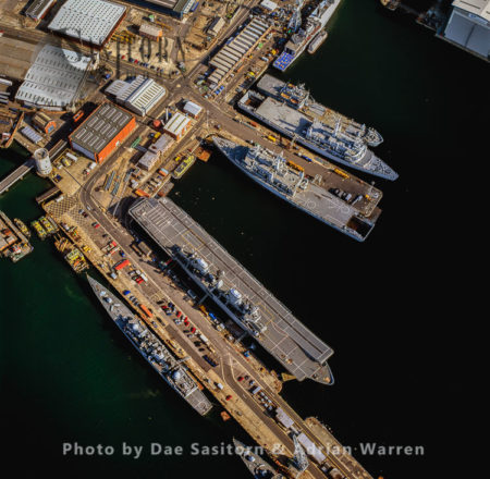 Portsmouth's Dock Yard And HM Naval Base, Portsmouth Harbour, Hampshire