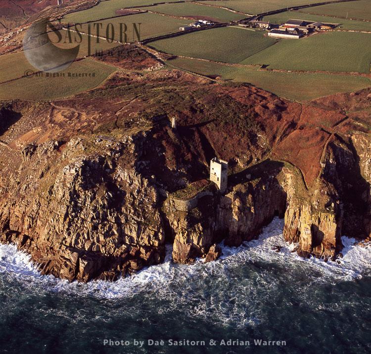 Wheal Trewavas Copper And Tin Mine, East Of Trewavas Head, Cornwall