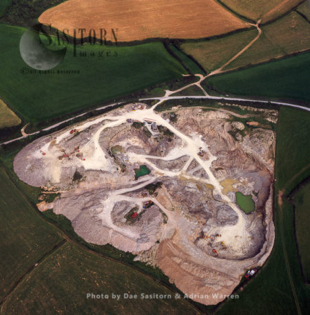 A Slate Quarry, West Of Delabole, Cornwall