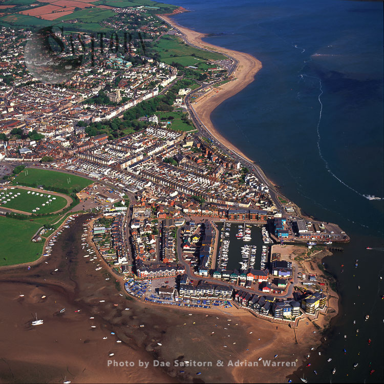 Exmouth, A Port Town, And Seaside Resort, On The East Bank Of The Mouth Of The River Exe