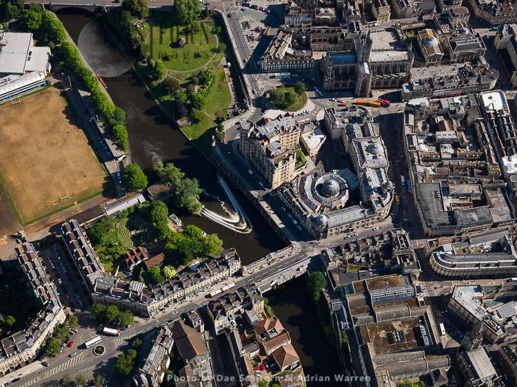Bath Guildhall Market, Pulteney Bridge And Bath Abbey, Bath, Somerset, England