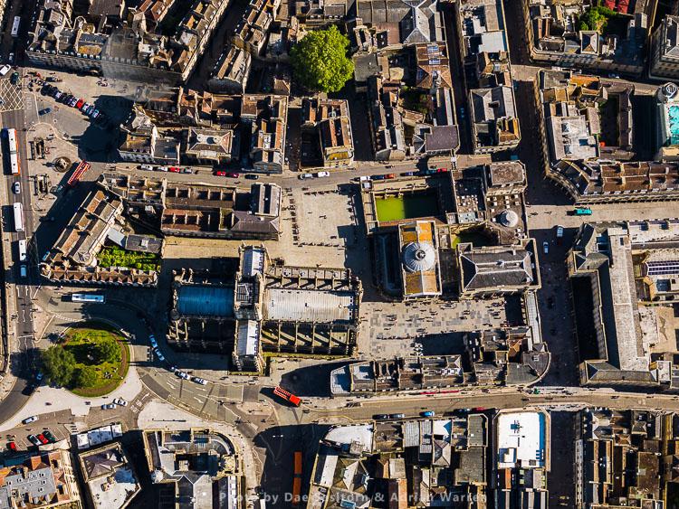 Roman Bath, Bath Abbey and city of Bath, Somerset
