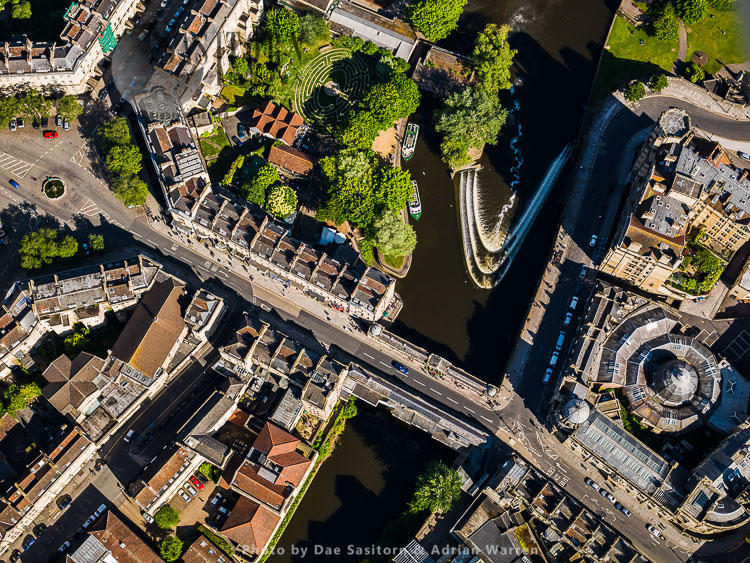 Beazer Maze,  Pulteney Bridge, and Bath Guildhall Market, Bath, Somerset