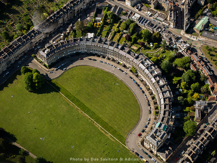 The Royal Crescent, City Of Bath, Somerset, England