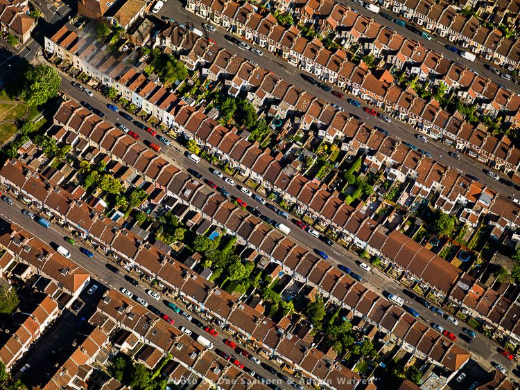 Housing in Bristol, near Temple Meads Station, Bristol, South West England